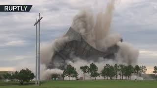 1,500lbs of dynamite EXPLODE Jacksonville cooling towers in 12 sec - RUSSIATODAY