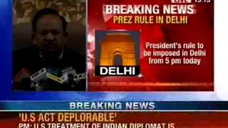 NewsX: President's rule to be imposed in Delhi from 5 PM today - NEWSXLIVE