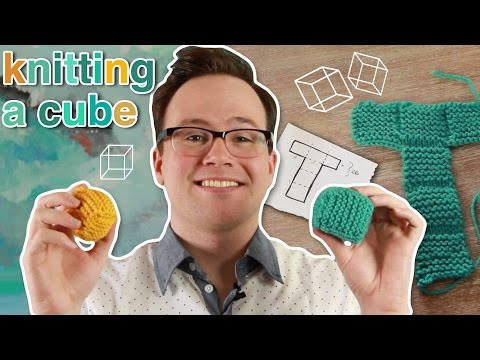 Knitting a Poof Cube: How to Knit a Cube