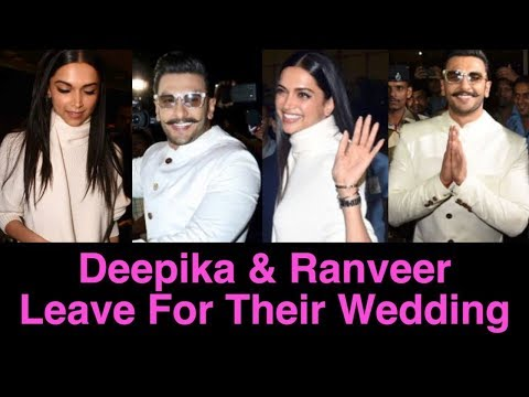 Deepika Padukone and Ranveer Singh Leave For Their Destination Wedding In Italy