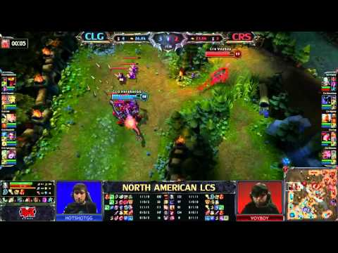 Counter Logic Gaming (CLG) vs Curse Gaming (CRS) - LCS 2013 NA Spring W4D2