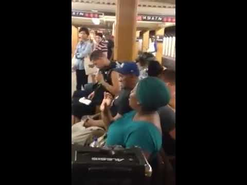 Subway Singing Session- Lady Waits On Her Train Singing Beyonce