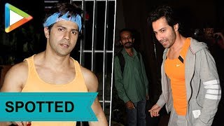 Varun Dhawan SPOTTED at the gym - HUNGAMA