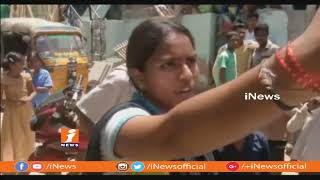 Women Protest In Front Of Husband House In Badvel | Kadapa | iNews - INEWS