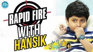 Rapid Fire With Master Hansik || Anchor Komali Tho Kaburlu - IDREAMMOVIES
