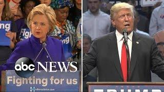 Hillary Clinton's Campaign Focuses on Bernie Sanders and Donald Trump - ABCNEWS