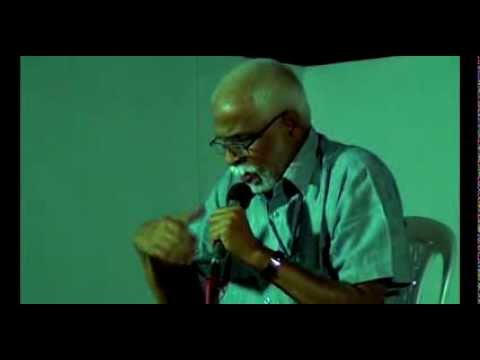 VK Sasidharan (VKS) reciting Gitanjali by Rabindranath Tagore at Bharat Bhavan