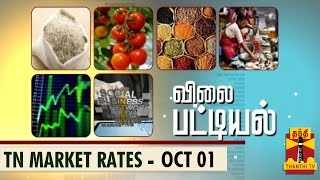 Vilai Pattiyal 01-10-2014 Market Rates of Essential Commodities in TN (01/10/14) – Thanthi TV