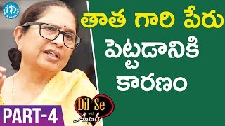 Child Rights Activist Padma Shri Awardee Dr. Shantha Sinha Interview - Part #4 | Dil Se With Anjali - IDREAMMOVIES
