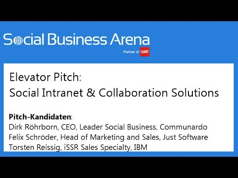 #cebitsba 2014 | Elevator Pitch: Social Collaboration Lösungen mit Communote, Just Software & IBM