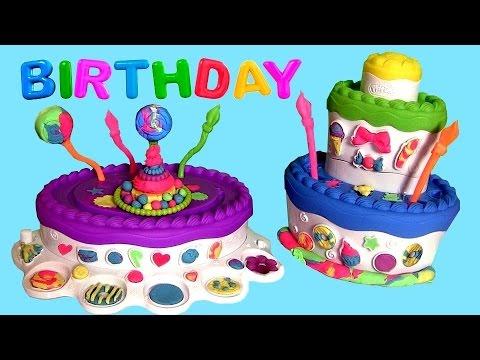 Play Doh Cake Mountain Set Sweet Shoppe Dough - Torta de Cumpleaños Fábrica de Bolos de Aniversario