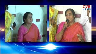 Ex Deputy CM Damodar Raja Narasimha Wife Padmini Reddy speaks to media after joining BJP | CVR News - CVRNEWSOFFICIAL