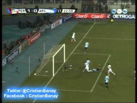 Peru 1 Argentina 1 (Los goles )  Eliminatorias Rumbo a Brasil 2014 Los goles (11/9/2012)