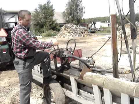 maszyna do ciecia i łupania drewna opałowego