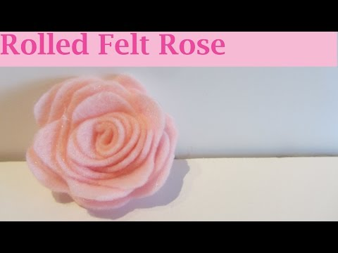 How to Make a Pink Rolled Felt Rose Flower Craft Tutorial