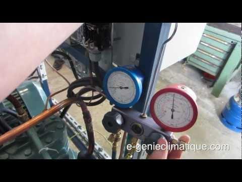 Froid08-Réglage pressostat BP sur un groupe de condensation compresseur ouvert - méthode 1