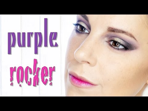 Purple rocker winter makeup | Silvia Quiros