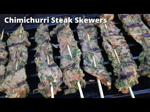 Chimichurri Skirt Steak Skewers | Grilled Skirt Steak Malcom Reed HowToBBQRight