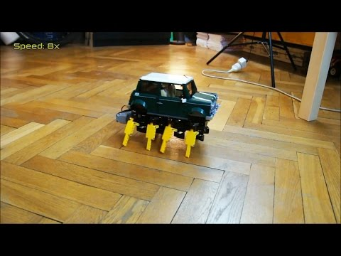 Lego Technic RC Walking Mini Cooper with SBrick