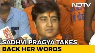 """""""Take Back My Words"""": Sadhvi Pragya After Backlash Over 26/11 Hero Remark - NDTV"""