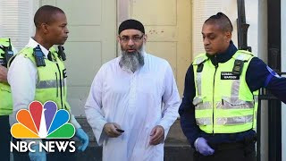 Extremist Preacher Anjem Choudary Greets The Media After Release From U.K. Prison | NBC News - NBCNEWS