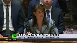'I will not shut up, we will not chase after you' - US envoy to Palestinian leader at UNSC - RUSSIATODAY