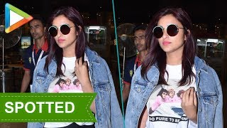 SPOTTED: Parineeti Chopra at the airport - HUNGAMA