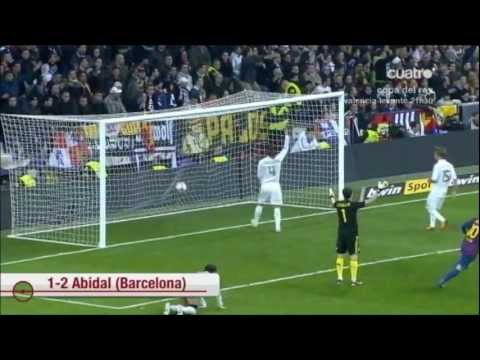 Real Madrid vs FC Barcelona 1 2 Copa del rey ida 18 01 2012