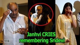 Janhvi couldn't STOP CRYING remembering Sridevi - IANSLIVE