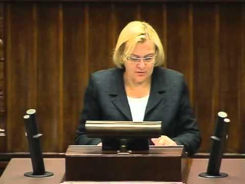 [305/343] Krystyna Poślednia: Pani Minister! Mam zaszczyt w imieniu Klubu Parlamentarnego Platfor..