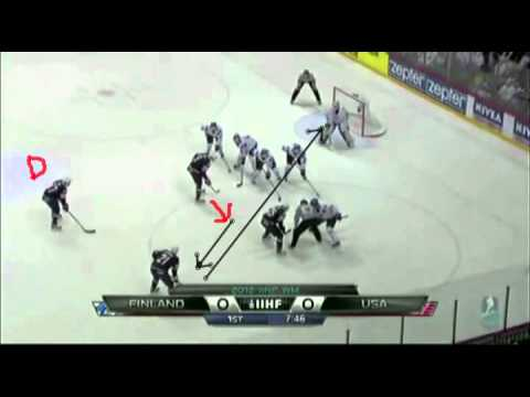 USA Creating Problems for Finland on Defensive Zone Face Offs.mp4