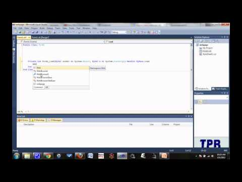 Tutorial de Visual Basic 2010: navega una pagina web utilizando un windows form