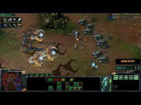 StarCraft II: Heart of the Swarm - Battle Report (Protoss vs Terran) -OdTE2QRi8TM