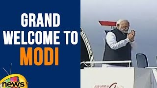 PM Narendra Modi Grand Welcome By Telangana Government At Begumpet Airport | Mango News - MANGONEWS