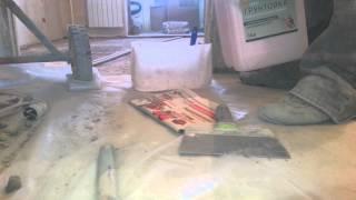 Заливка пола с керамзитом день 1
