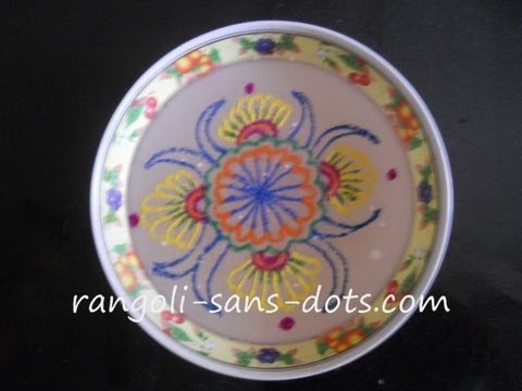 Rangoli on water Diwali special decoration idea