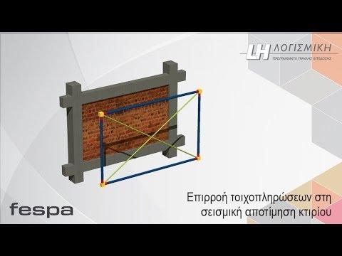 Fespa - Επιρροή τοιχοπληρώσεων στη σεισμική αποτίμηση κτιρίων