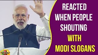 See How Modi Reacted When People  Shouting With Modi Slogans | Modi Latest News | Mango News - MANGONEWS