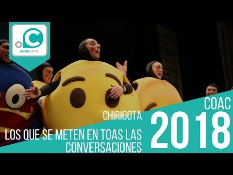 Sesión de Preliminares, la agrupación Los que se meten en toas las conversaciones actúa hoy en la modalidad de Chirigotas.