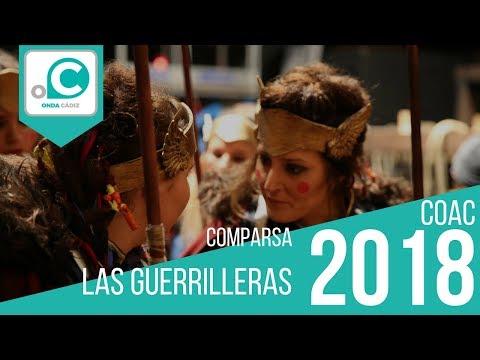 La agrupación Las guerrilleras llega al COAC 2018 en la modalidad de Comparsas. En años anteriores (2017) concursaron en el Teatro Falla como Las enamoraitas, consiguiendo una clasificación en el concurso de Preliminares.