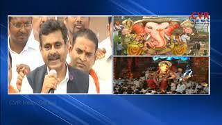 Balapur Ganesh Shobha Yatra | Balapur Laddu Auction Bigins || Ganesh Nimajjanam 2018 | CVR NEWS - CVRNEWSOFFICIAL