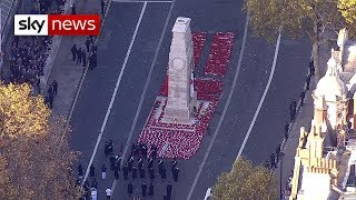 Armistice 100: UK falls silent to remember the fallen - SKYNEWS