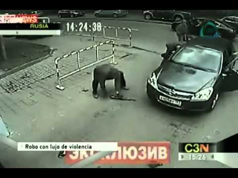 Robo en Rusia con extrema violencia