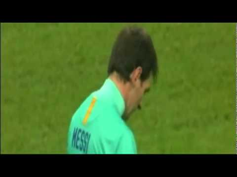 Messi funny penalty yellow carded