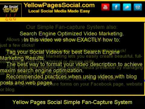 Yellow Pages Social Simple Fan Capture System