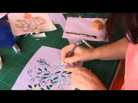 Como cortar una plantilla, Stencil