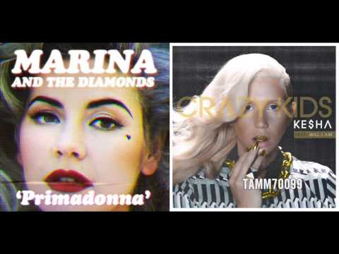 Ke$ha feat. Will.i.am vs. M.A.T.D. - Crazy Primadonna Kids (Crazy Kids vs. Primadonna) (Mashup Mix)