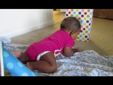 Baby Olivia Crawls For First Time!! May 13-14, 2013 | Naptural85 Vlog
