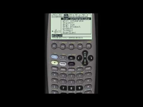 Finding Derivatives using your TI 89 calculator