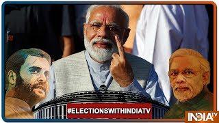 Lok Sabha Elections 2019: Gandhi Nagar में PM Modi Vote डालने पहुंचे तो गूंजे 'Modi-Modi' के नारे ! - INDIATV